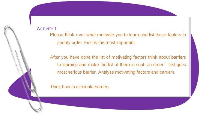 factors motivating adult learners essay