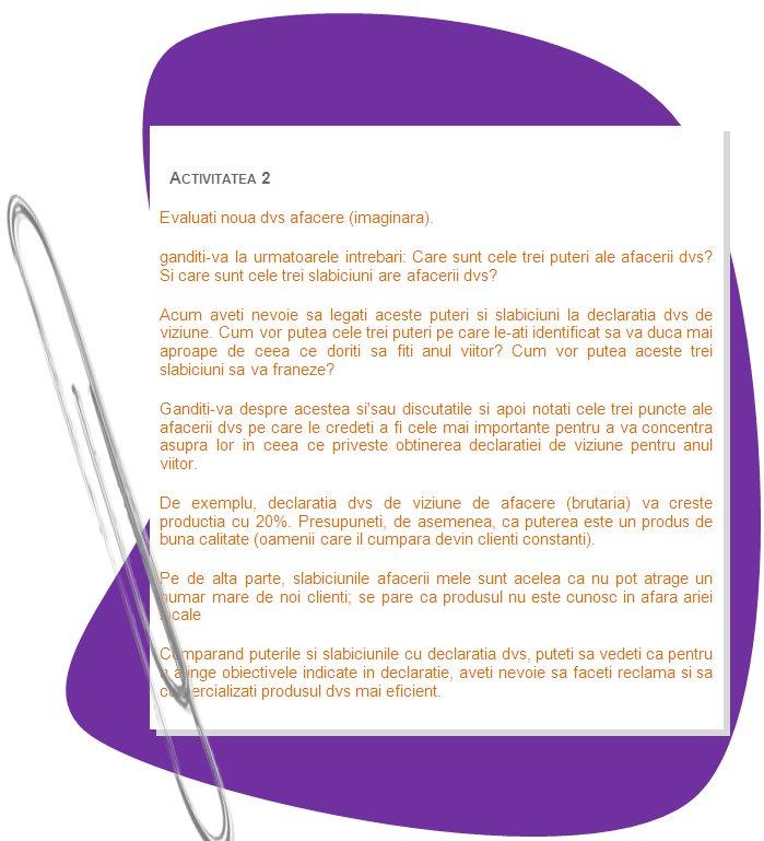 viziunea 6 exemplu